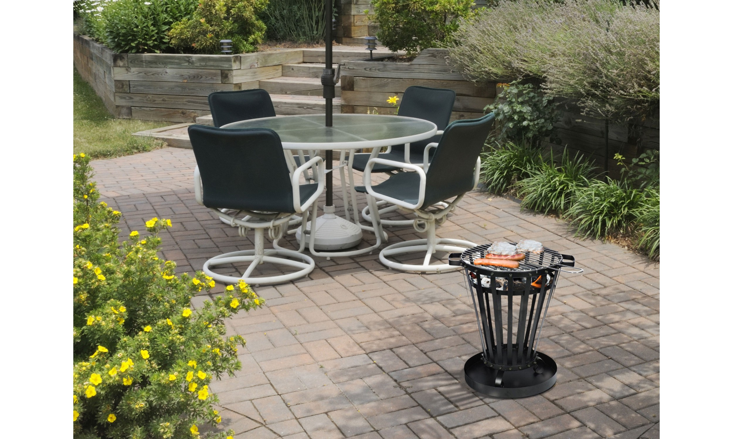 Fire basket with grill EFP6
