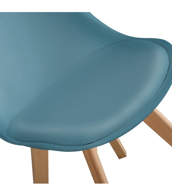 PACK X2 SCANDINAVIAN OCEAN CHAIR WITH WOOD LEGS