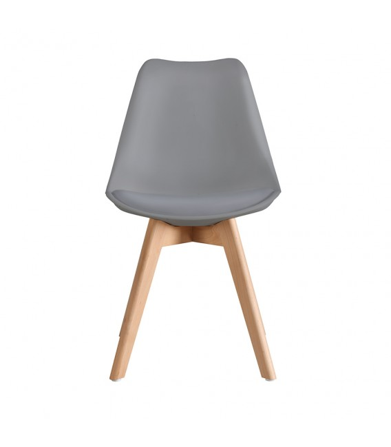 SCANDINAVIAN DARK GREY CHAIR WITH WOOD LEGS