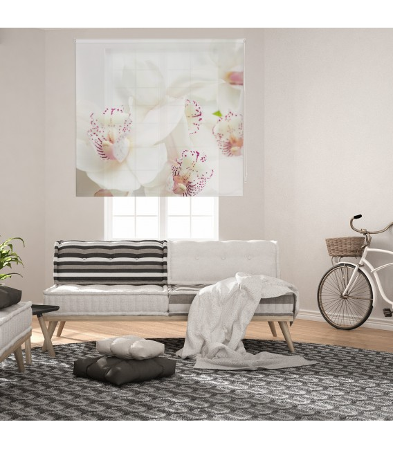 ROOM ORCHID PRINT ROLLED STORE