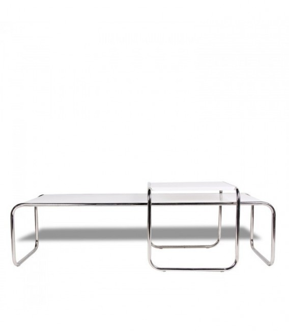 MARCEL BREUER Table -Limited Edition--White MDF Inspiración Marcel Breuer de Marcel Breuer