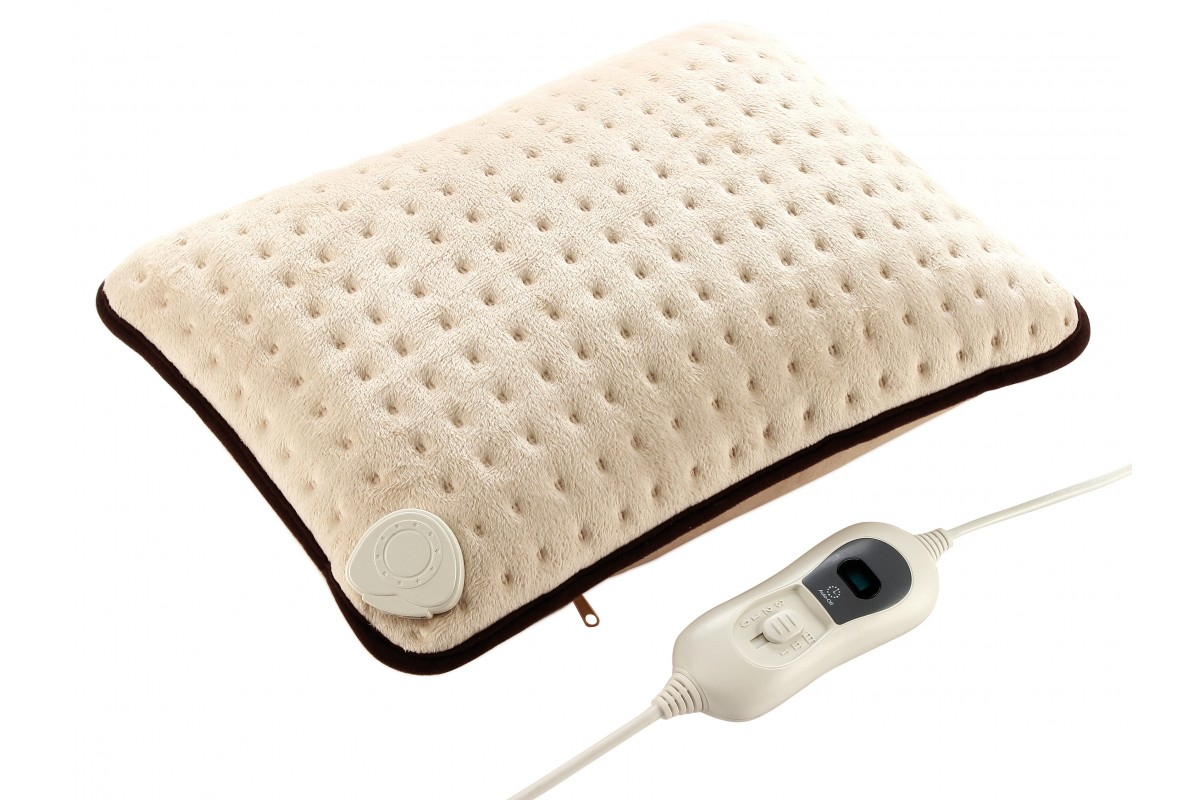 Textile heating pad in synthetic wool
