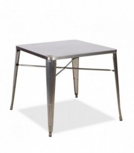 INDUSTRY Table-Brushed steel