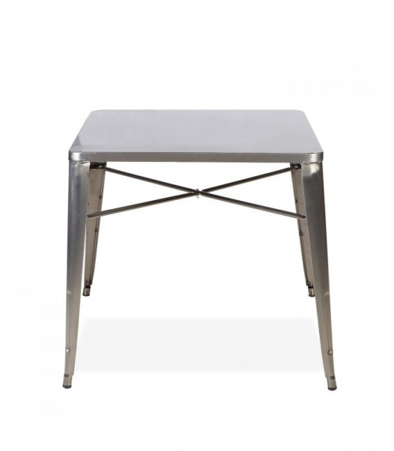 Table INDUSTRIE - Acier brossé