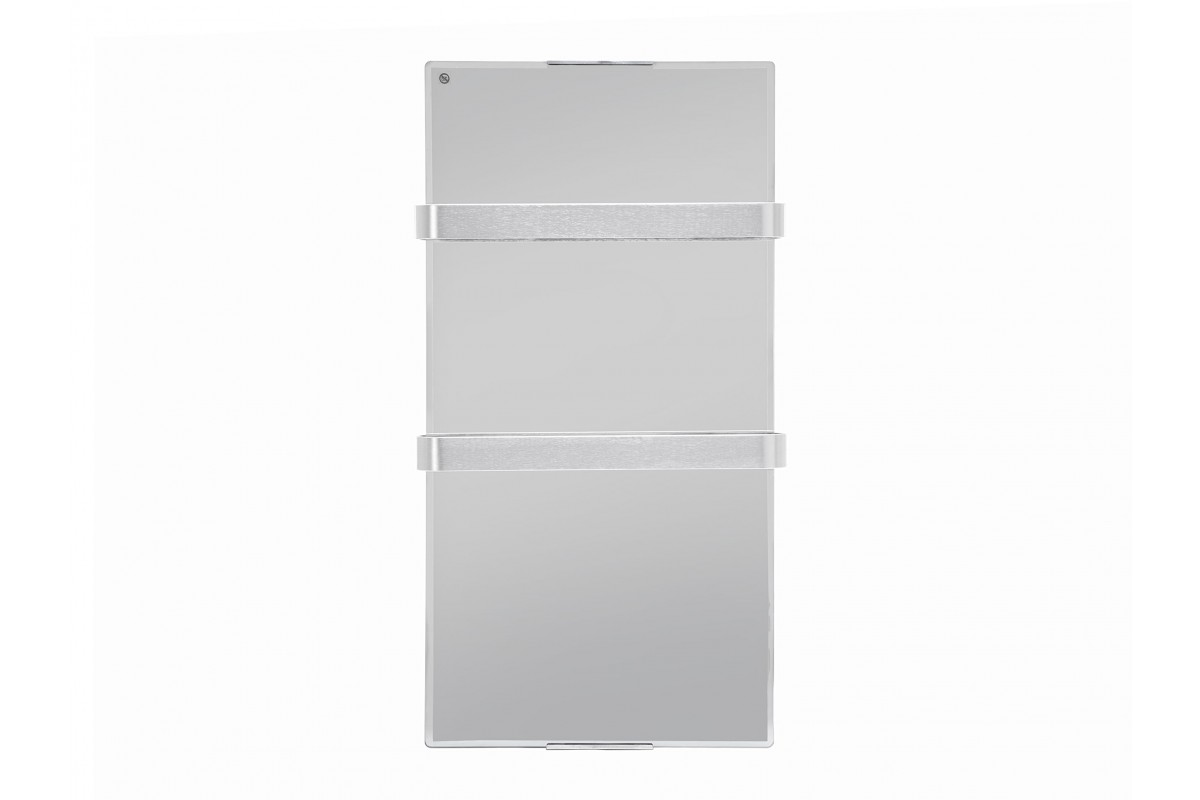 Electric heating towell with effect mirror tempered glass ZAFIR V600T LUX