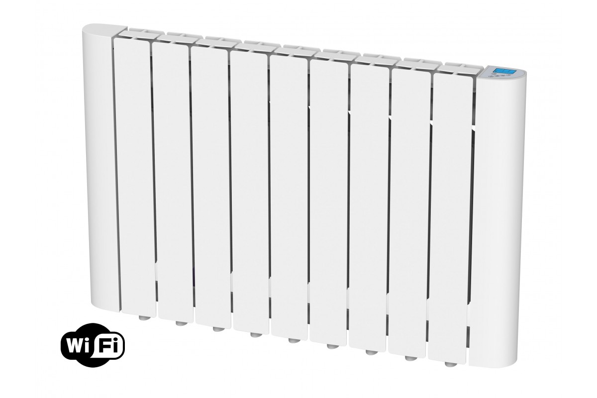 Digital Thermal Inertia radiator with internal fluid, 1800W, wifi, Radoil A1800