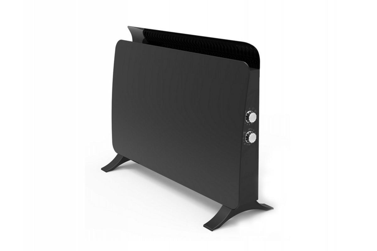 Radiador panel cristal templado color negro ZAFIR H1500N B de