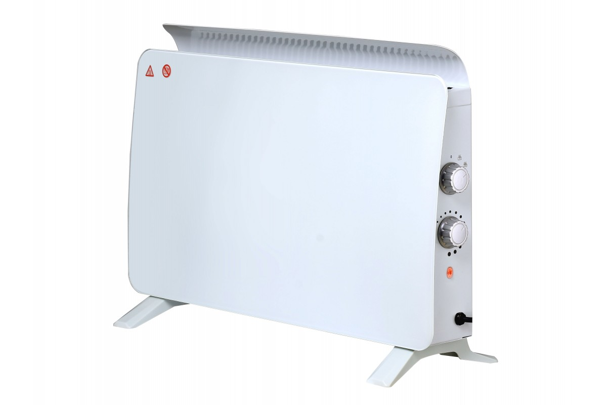 Radiatore in vetro temperato a pannello bianco ZAFIR H1500N W