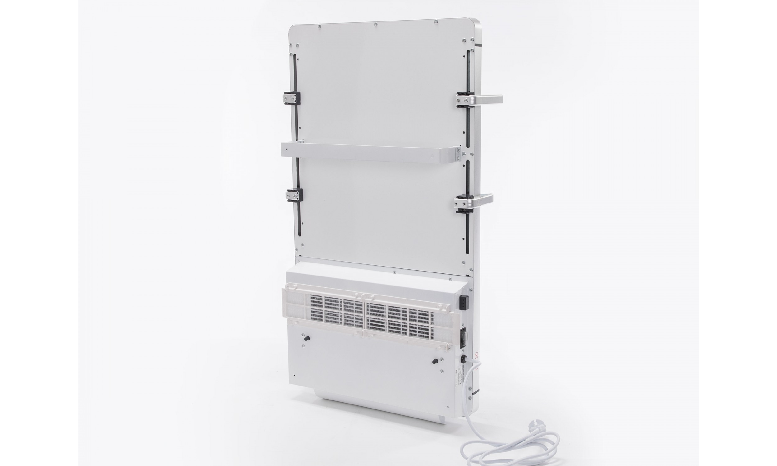 Digital electric heating towell with white tempered glass ZAFIR V2000T B