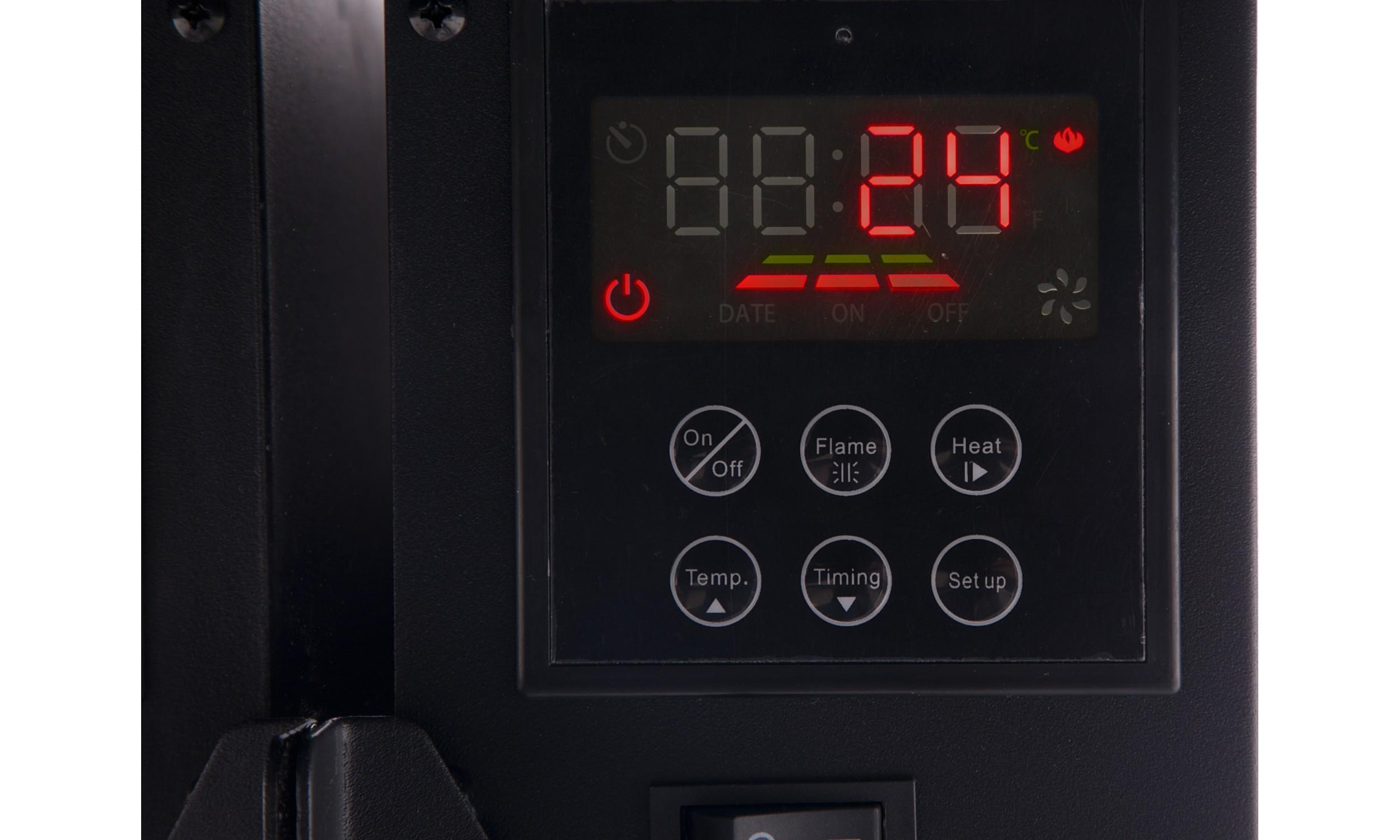 Chimenea Eléctrica Panorámica con luz LED ambiental CHE-510 (Espejo)