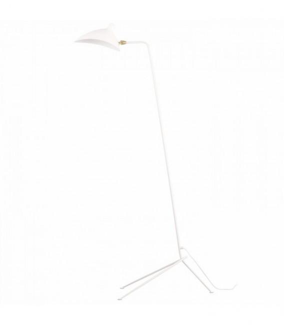 MOUILLE Lamp-White Inspiración One-Arm Floor Lamp de Serge Mouille