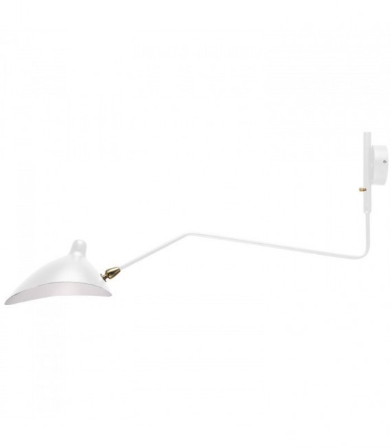 Lampe mouille 1 arm wandleuchte white inspiraci n one arm wall sconce de serge mouille mobelium - Serge mouille wandleuchte ...