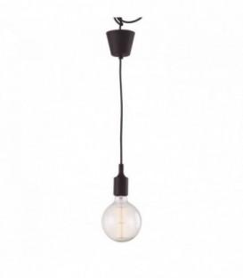 Vintage-Lampe OVIS -braun--Brown