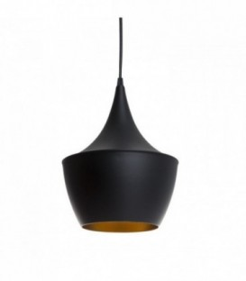Lampe AMSTI-Black Steel Inspiración Beat Fat de Tom Dixon