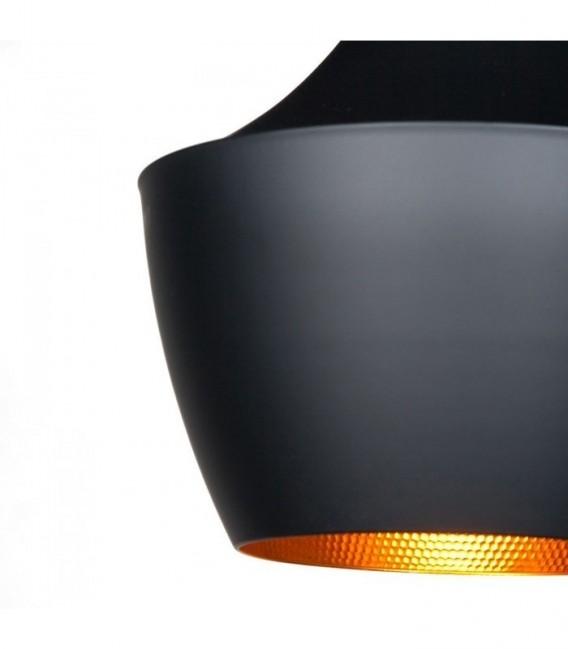 Lámpara AMSTI-Acero negro Inspiración Beat Fat de Tom Dixon