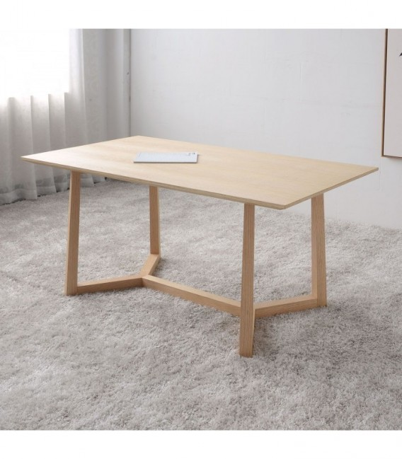 POLYGON Dining Table-Bleached oak