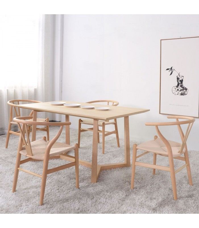 POLYGON Dining TableBleached Oak Mobelium - Bleached wood dining table