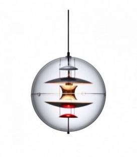 Lampe ESFERA-Clear glass Inspiración Globe de Verner Panton