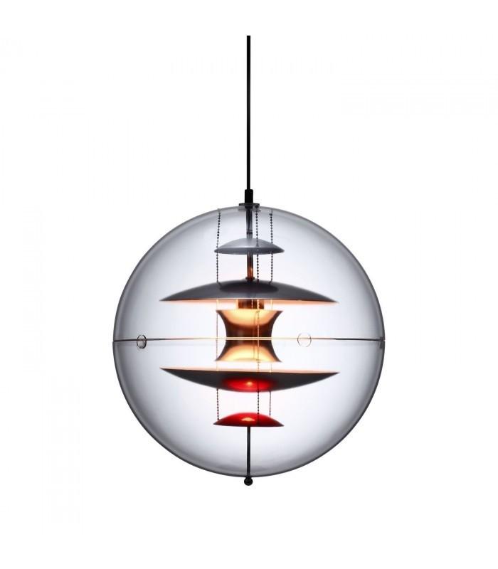 Flott Lampe ESFERA-Clear glass Inspiración Globe de Verner Panton - Mobelium ZD-53