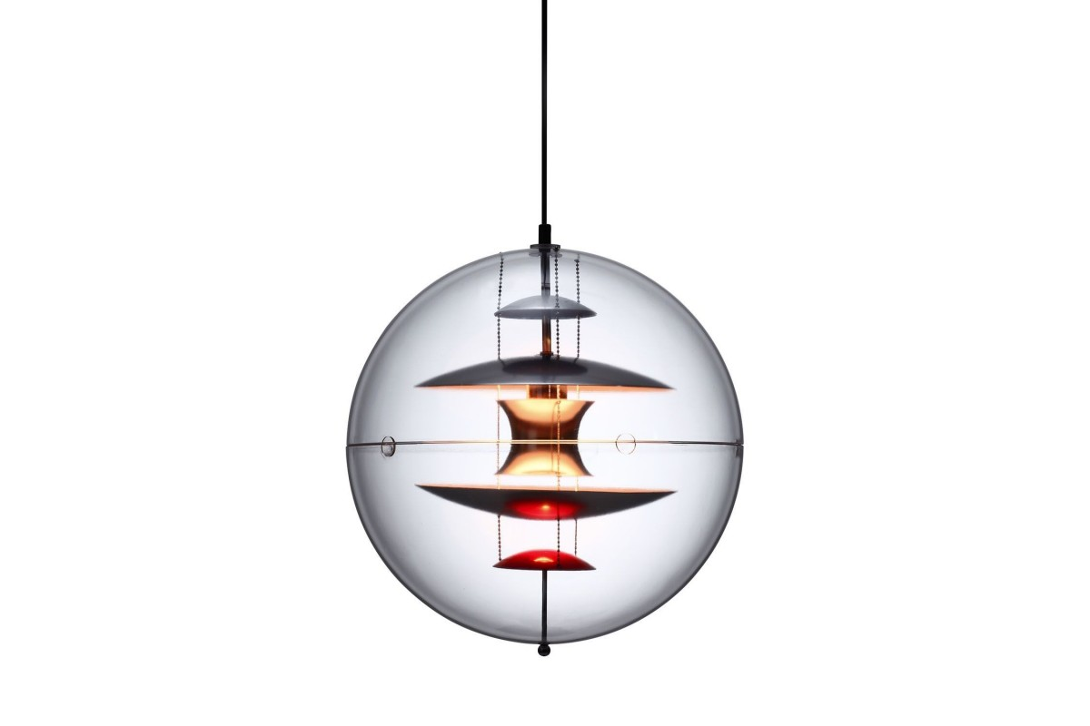 Lámpara ESFERA-Cristal transparente Inspiración Globe de Verner Panton