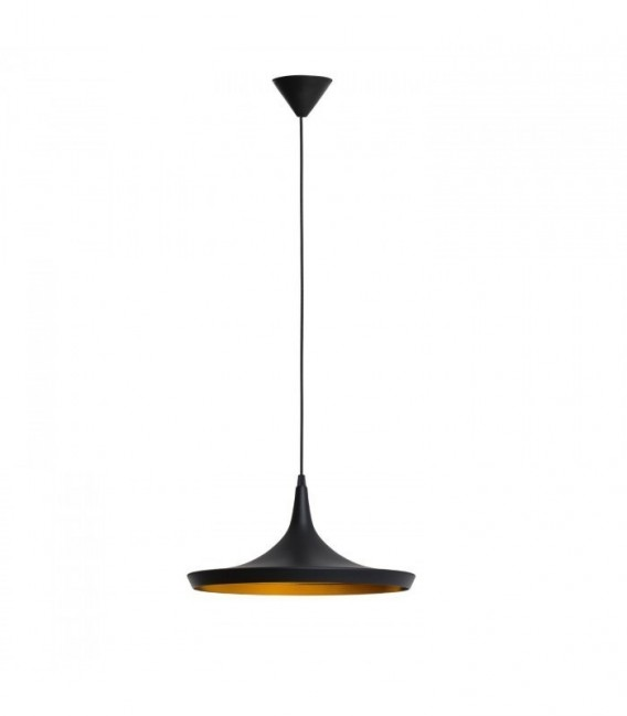 TERD Ceiling Lamp-Black Steel Inspiración Beat Wide de Tom Dixon