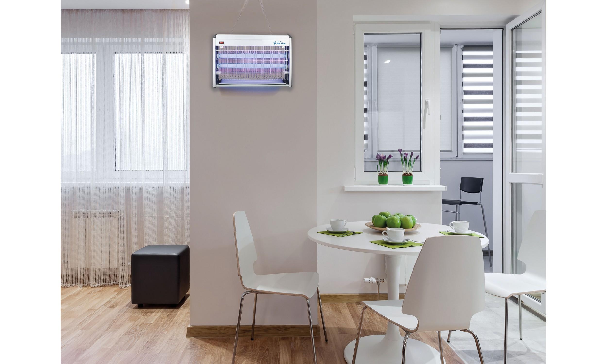 Destructeur d'insecte pour 100 m² in aluminium pour intérieur