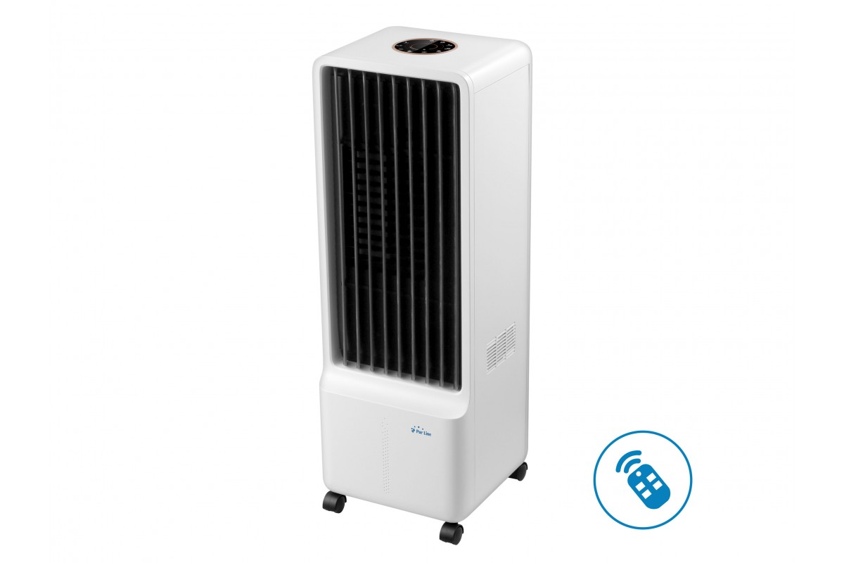 Evaporative air cooler with permanent water cooling system