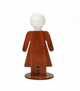 Lampe de table WOMAN-Wood