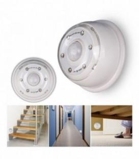 6 LED avec détecteur de mouvement-Blanc