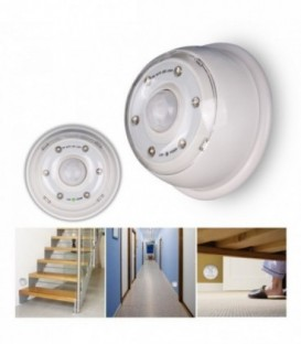 Luz 6 LED con detector de movimiento-Blanco