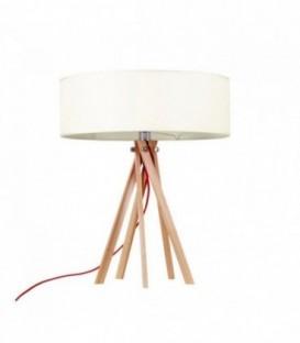 Schreibtischlampe RINGO Buchenholz-White