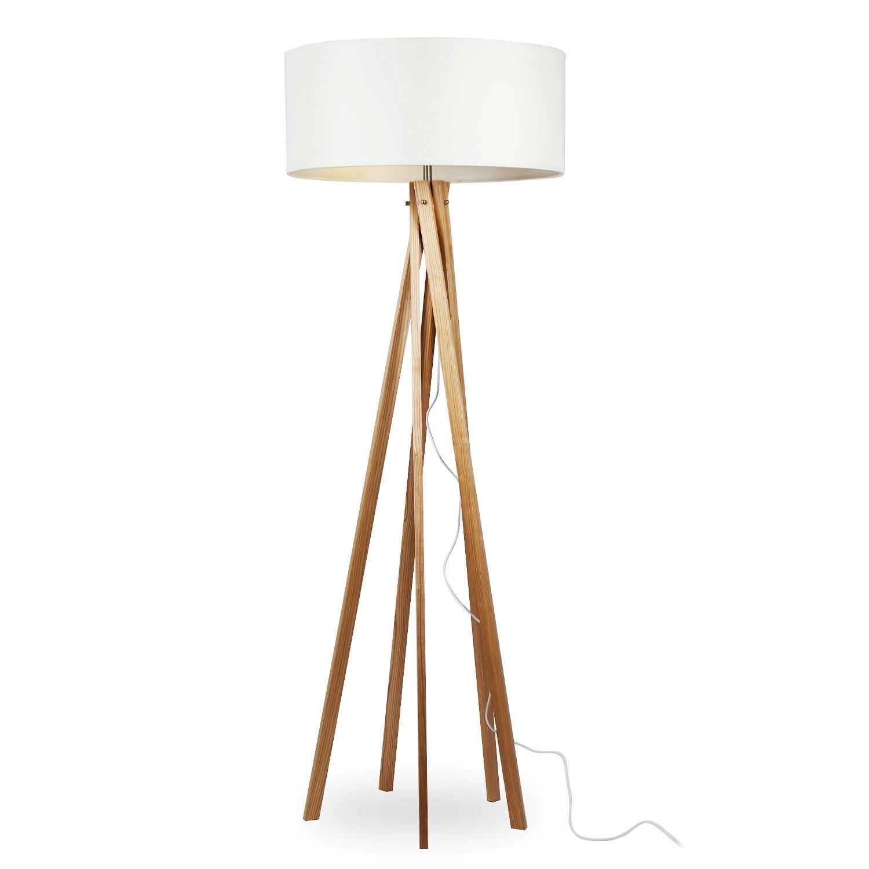 Lámpara RINGO -Madera de Haya--Blanco