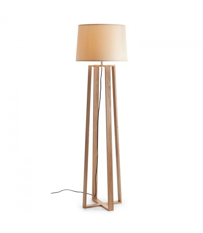 Lámpara ARCO -Madera de Haya--Blanco - Mobelium