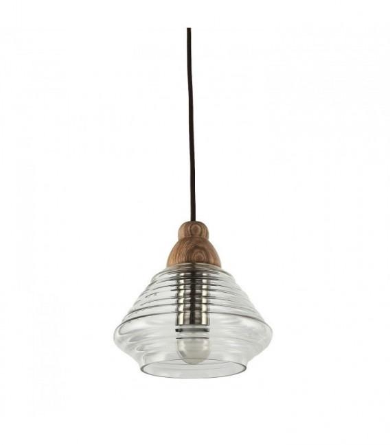 Lámpara SWERM 2 -Haya--Cristal transparente
