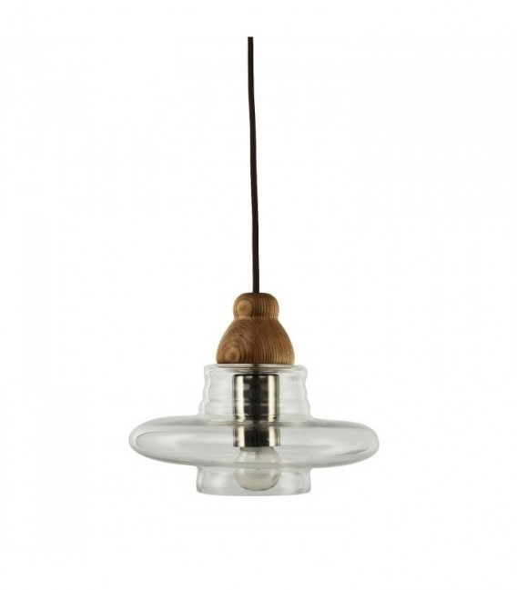 SWERM 3 Lamp -Beech--Clear glass