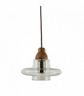 SWERM 3 Lamp -Beech--Clear glass