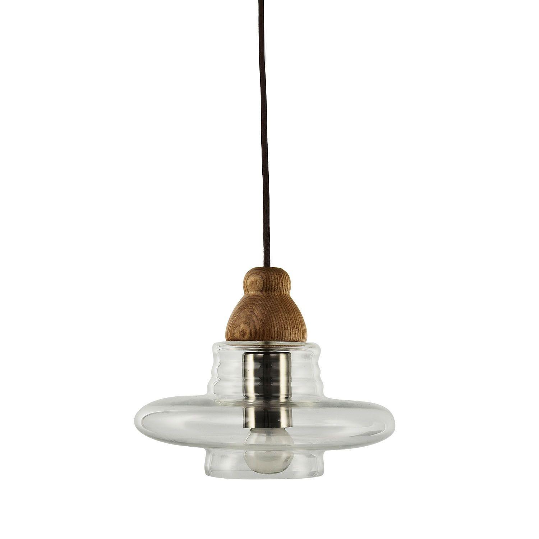 Lámpara SWERM 3 -Haya--Cristal transparente