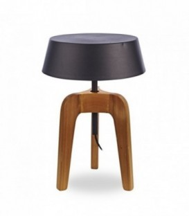 Lampe TABURO aus Buchenholz und Metall-Black
