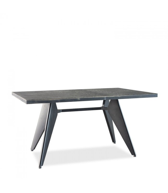 TRADDO 150 Dining Table  Vintage  Black