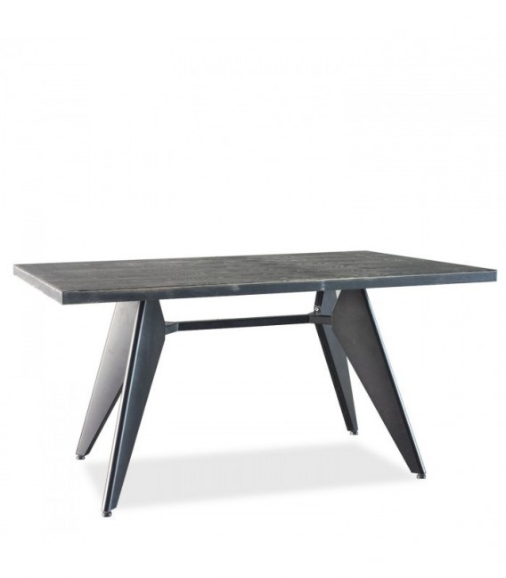 TRADDO 190 Dining Table -Vintage--Black
