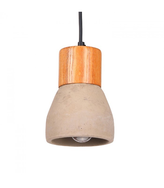 Lámpara BRANDO -Cemento y Madera--Cemento - Mobelium