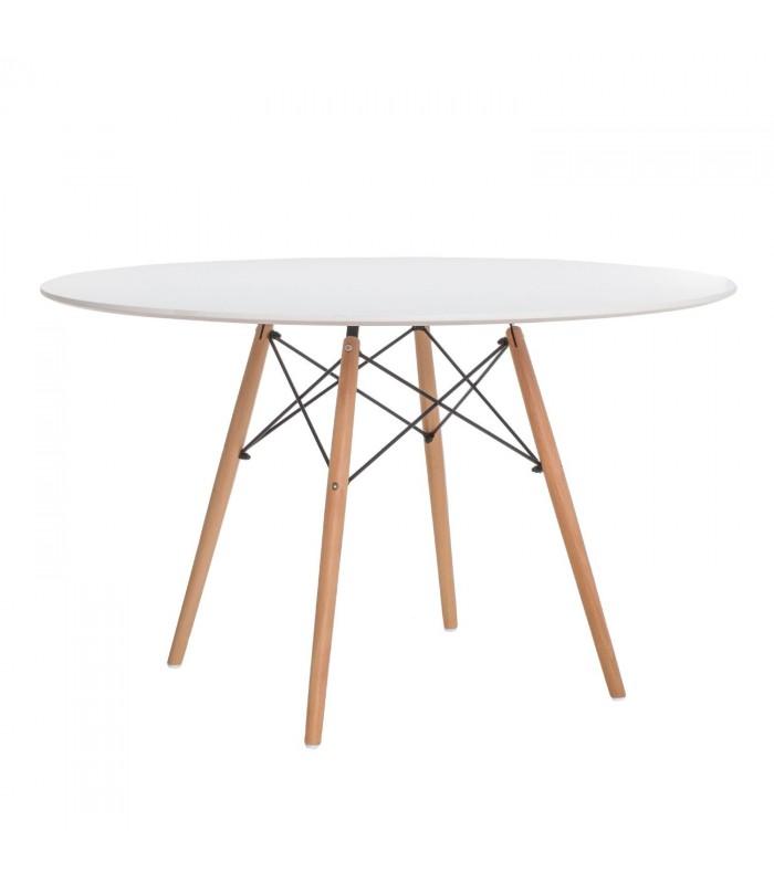 TENDAR WOOD Table 120-White Inspiración DSW de Charles & Ray Eames