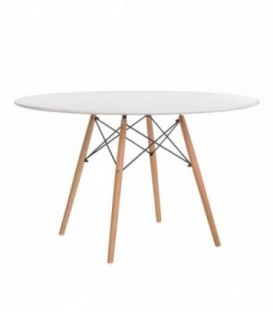TENDAR WOOD Table 120-White Inspiración DSW de Charles & Ray Eames