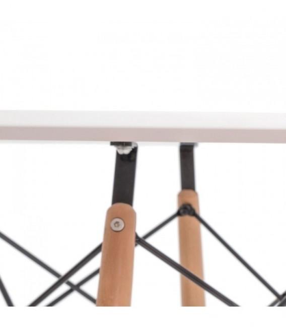 Tisch TENDAR WOOD 120-White Inspiración DSW de Charles & Ray Eames