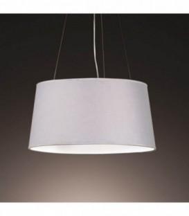 Lampada LAHORE-tessuto grigio