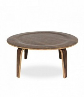 PLYWOOD NOGAL Table-Walnut Inspiración Eames Plywood Table de Charles & Ray Eames