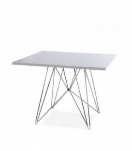 TENDAR CUADRADA Table-White Inspiración DSR de Charles & Ray Eames