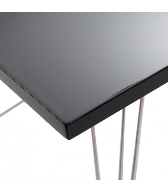 TENDAR CUADRADA Table-Black Inspiración DSR de Charles & Ray Eames