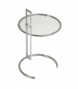 Mesa Regulable COFFEE GRAY-Cristal transparente Inspiración Eileen Gray Coffee Table de Eileen Gray