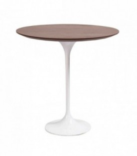 CIRCLE SAARINEN Coffee Table-White Inspiración tulip de Eero Saarinen